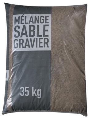 M lange sable et gravier pour b ton sac de 35 kg brico d p t - Dosage beton avec melange sable gravier ...