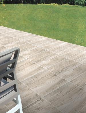 Carrelage en gr s maill ch ne naturel pour sol ext rieur - Modele de terrasse en carrelage ...