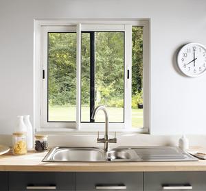 fen tre coulissante en aluminium haute isolation blanc l 120 x h 100 cm brico d p t. Black Bedroom Furniture Sets. Home Design Ideas