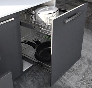 Tiroir rangement poign e charni re brico d p t - Glissiere tiroir cuisine ...
