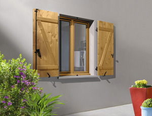 volet battant en bois de sapin du nord pic a h 75 cm l 60 cm ep 27 mm brico d p t. Black Bedroom Furniture Sets. Home Design Ideas