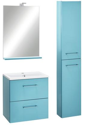 Meuble salle de bain bleu canard bleu lagon slim 60 cm - Meuble de salle de bain brico depot ...