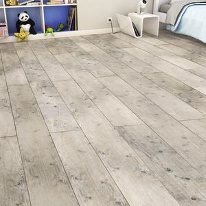 rev tement de sol stratifi imitation ch ne blanchi vintage l 1286 mm l 282 mm ep 8 mm. Black Bedroom Furniture Sets. Home Design Ideas