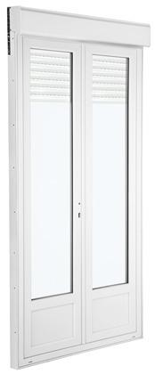Portefenêtre PVC Avec Volet Roulant Motorisé L X H Cm UW - Porte fenetre pvc avec volet roulant brico depot