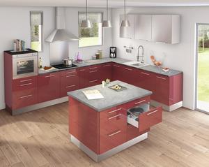 Plan de travail meuble de cuisine brico d p t - Ilot central plan de travail ...