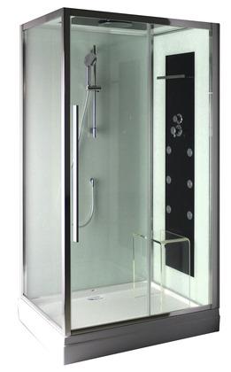 cabine de douche rectangulaire avec porte coulissante 120x80 cm moretti brico d p t. Black Bedroom Furniture Sets. Home Design Ideas