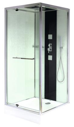 Cabine de douche carrée avec porte pivotante 90x90 cm - MORETTI ...