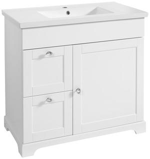 Meuble sous vasque Charme blanc L. 90 X H. 82,1 X P. 46 cm - Brico Dépôt