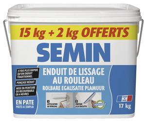 enduit de lissage au rouleau 15 kg 2 kg gratuits semin brico d p t. Black Bedroom Furniture Sets. Home Design Ideas