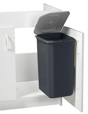 Poubelle en plastique d 39 un volume de 23 l en h 45 cm l - Poubelle cuisine interieur de porte ...