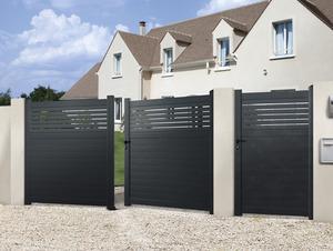 Portail en fer & aluminium & portillon - Brico Dépôt