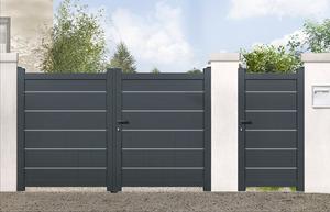 Portail en fer aluminium portillon brico d p t for Destockage portail pvc