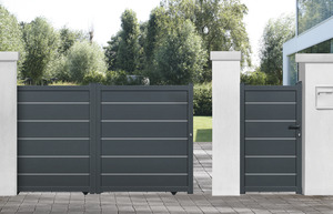 portail en fer aluminium portillon brico d p t. Black Bedroom Furniture Sets. Home Design Ideas