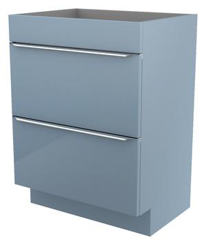Meuble sous vasque poser bleu imandra l 60 x h 82 for Panneau melamine brico depot
