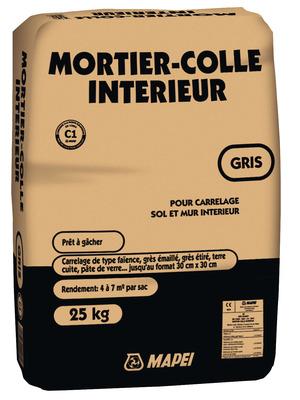 Mortier colle gris pour carrelage 25 kg brico d p t for Colle carrelage mapei