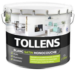 peinture murs et plafonds monocouche blanc satin 10 l 10 l satin brico d p t. Black Bedroom Furniture Sets. Home Design Ideas