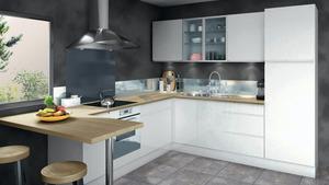 Modèle de cuisine moderne et équipée - Brico Dépôt