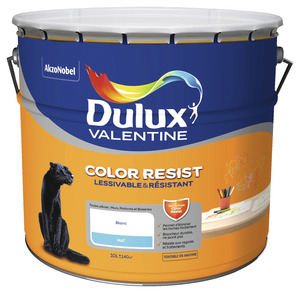 Peinture blanche pour mur plafond blanc mat satin - Dulux valentine color resist ...