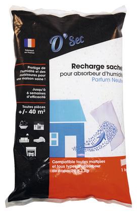 recharge sachet sous gaine ind chirable pour absorbeur d 39 humidit parfum neutre 1 kg brico. Black Bedroom Furniture Sets. Home Design Ideas