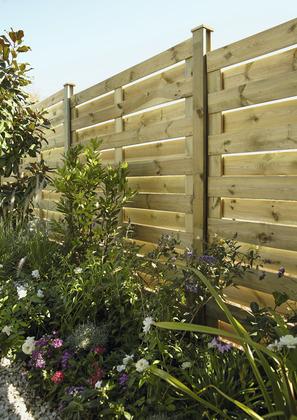 Cloture de jardin rigide - Bois & PVC - Brico Dépôt