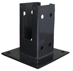 platine de fixation pour poteau bois la platine brico d p t. Black Bedroom Furniture Sets. Home Design Ideas