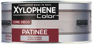 cire pour bois int rieur aspect patin ch ne gris 250 ml xylophene brico d p t. Black Bedroom Furniture Sets. Home Design Ideas